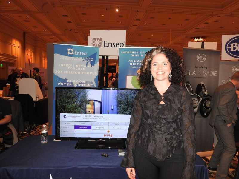 Vanessa Ogle, CEO of Enseo, at CES 2017.