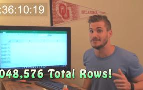 Hunter Hobbs Excel challenge video still