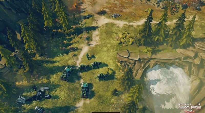 Halo Wars 2 single-player mission Ascension teaches you how to move through a map.