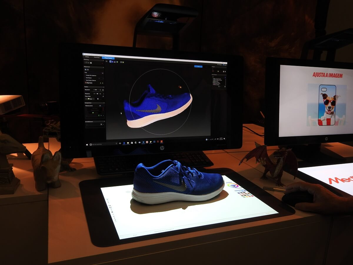 HP's Sprout Pro G2 can scan a shoe accurately in a matter of minutes.
