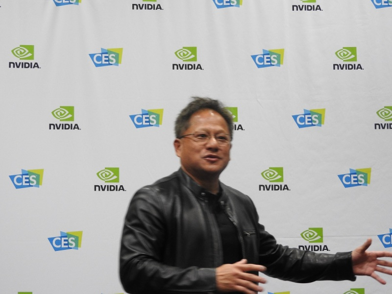 Jen-Hsun Huang, CEO of Nvidai, at CES 2017.