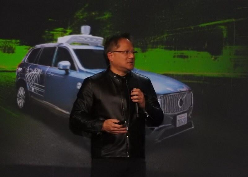 Jen-Hsun Huang, CEO of Nvidia, at CES 2017.