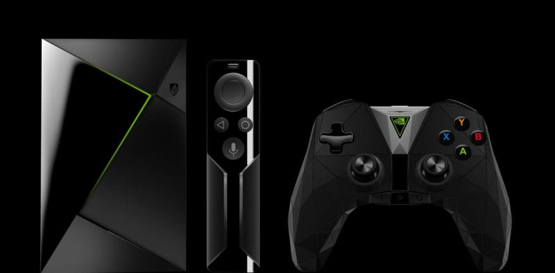 Nvidia Shield TV comes with a voice remote and game controller.