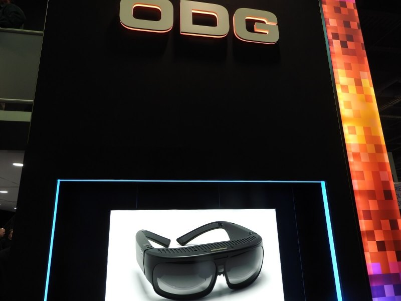 ODG's booth at CES 2017.