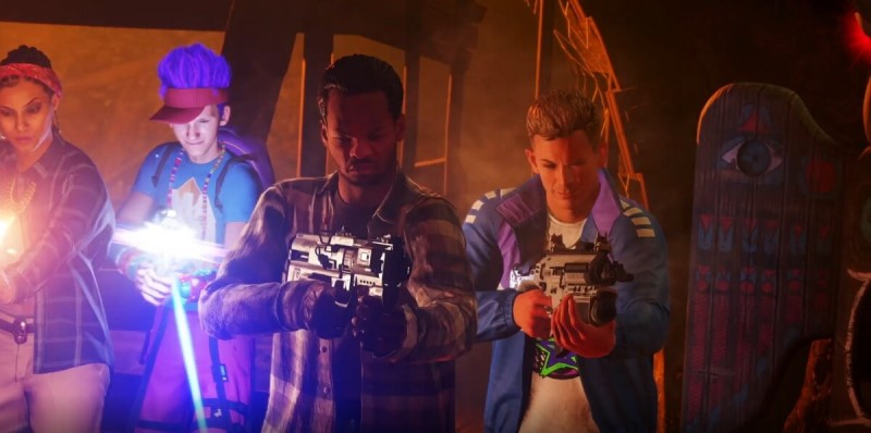 Four characters from Zombies in Spaceland return for Rave in the Redwoods.