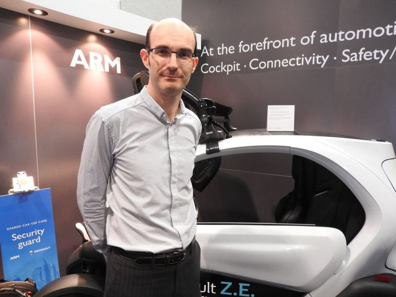 Richard York of ARM at CES 2017.