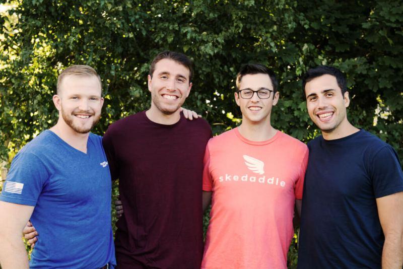 Skedaddle cofounders (from left to right): Brad Werntz, Adam Nestler, Lou Harwood, and Craig Nestler.