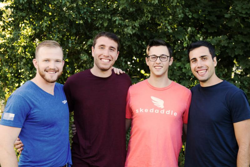 Skedaddle cofounders (from left to right): Brad Werntz, Adam Nestler, Lou Harwood, and Craig Nestler.