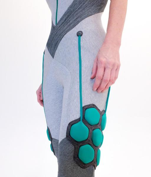 Older people and the disabled can stand and move better in a Superflex suit.