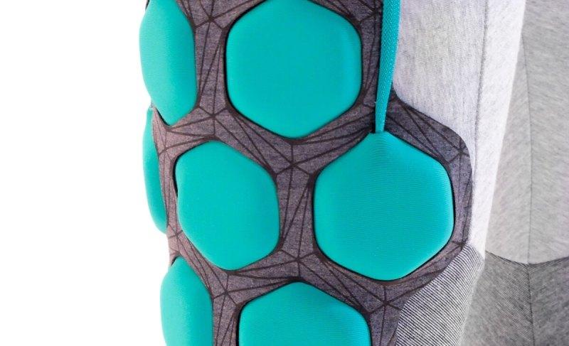 Superflex's suit has wires designed into it.
