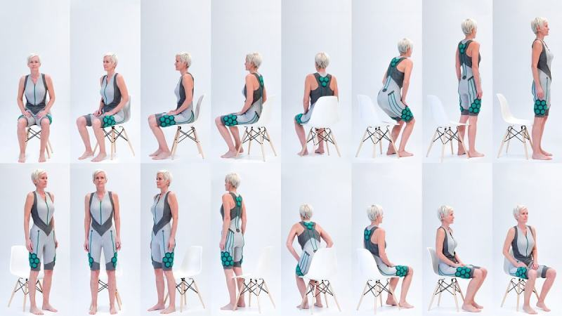 Superflex's suit is designed to help people get out of chairs.