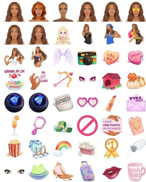 TyTyMoji lets you express your Tyra side.