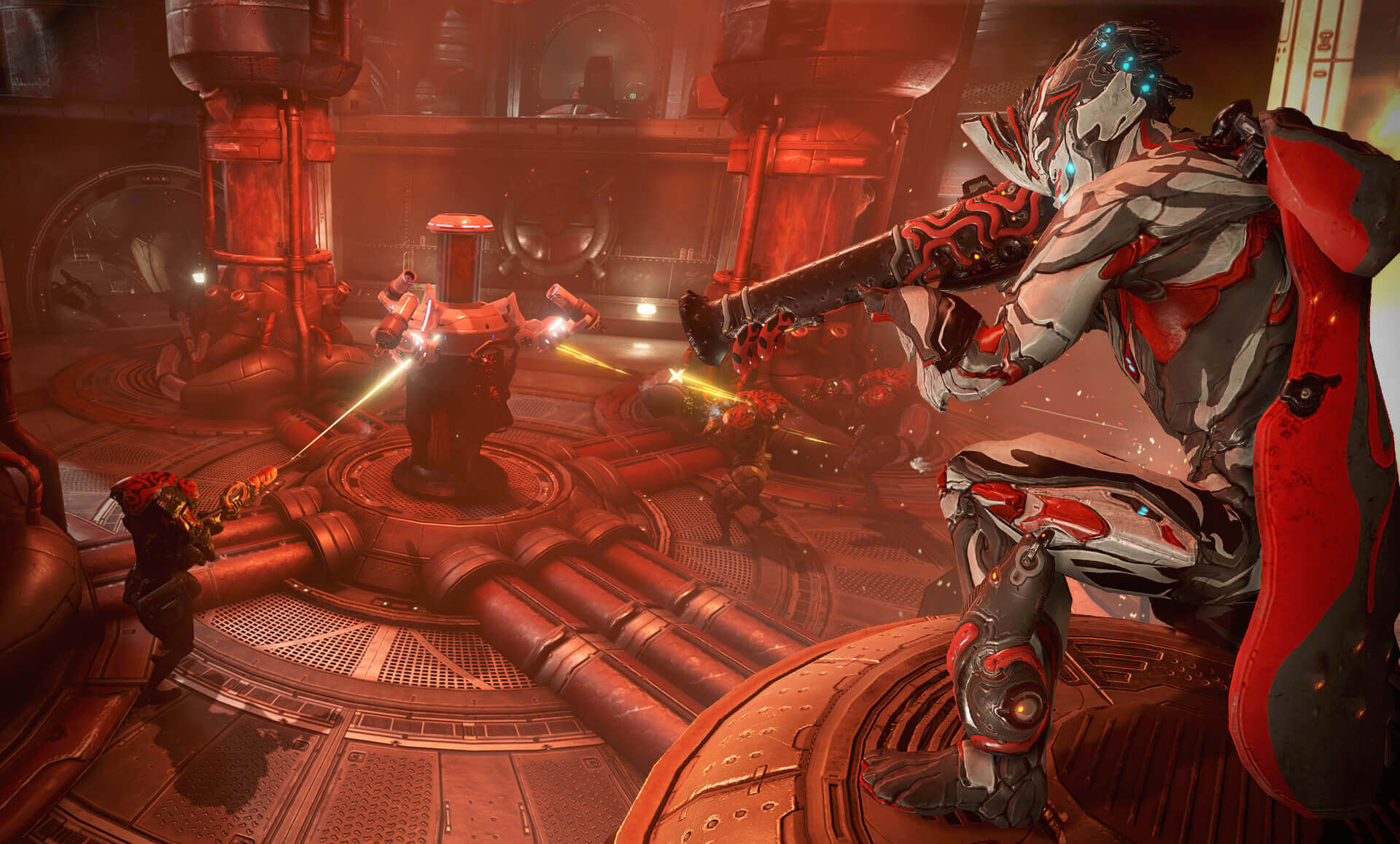 Action from Warframe's The War Within update.