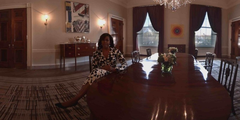 Michelle Obama narrates a VR tour in the White House.