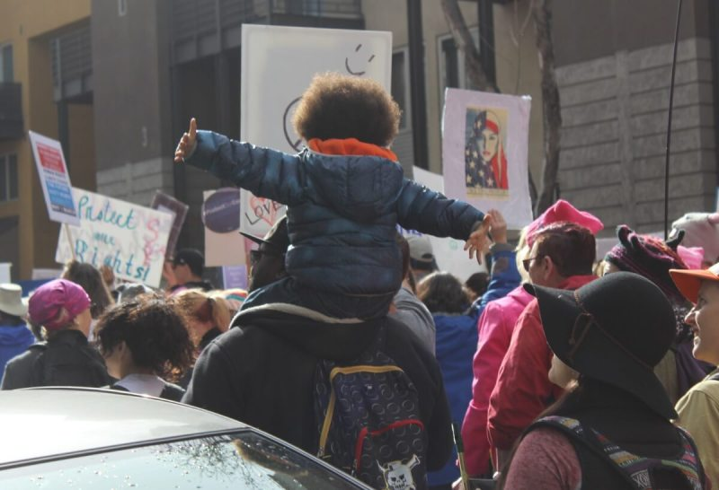 There were lots of kids at the Women's March in San Jose.