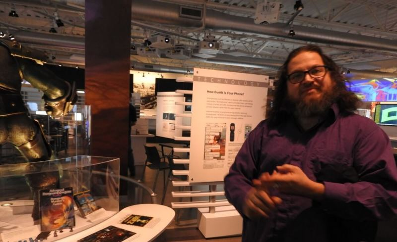 Chris Garcia, curator at the Computer History Museum, and a co-creator of the World of Warcraft display.