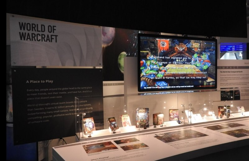 World of Warcraft display at the Computer History Museum.