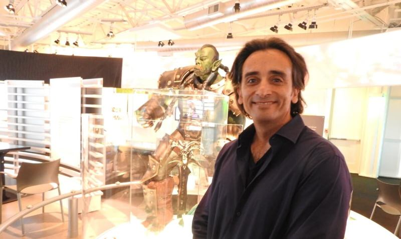 Gio Hunt, executive vice president at Blizzard Entertainment at the Computer History Museum's World of Warcraft display.