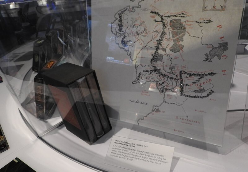 The Lord of the Rings gets a nod in the Computer History Museum's World of Warcraft display.