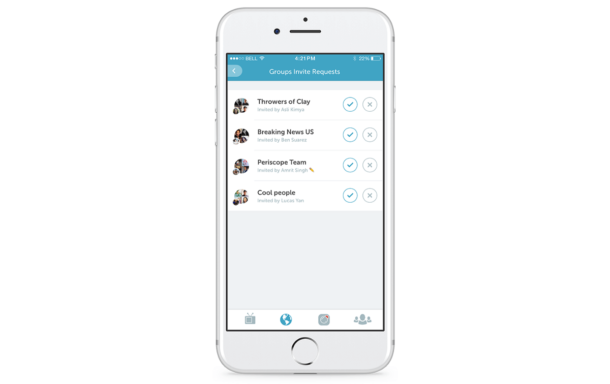Periscope now lets users manage the flurry of group invites they receive.