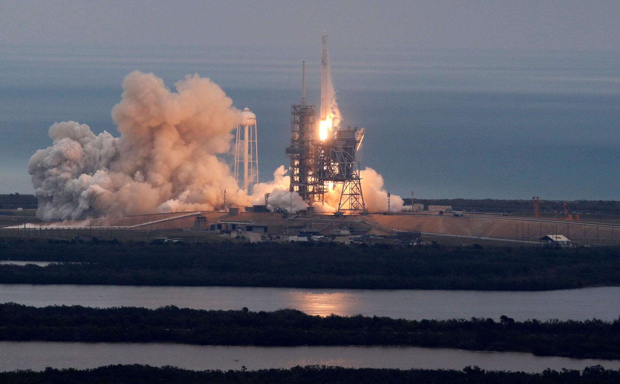 SpaceX rocket lifts off from historic NASA launch pad ...