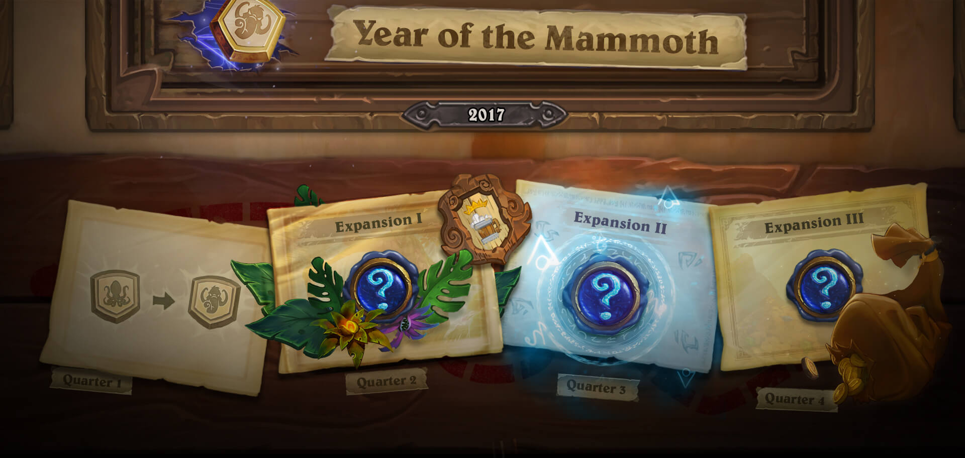 Hearthstone's 2017 timeline.