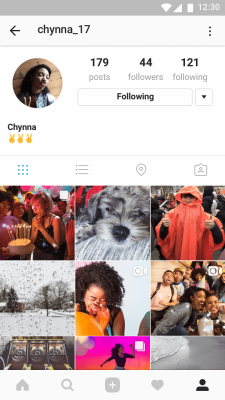 What carousel-like posts look like within your profile on Instagram.