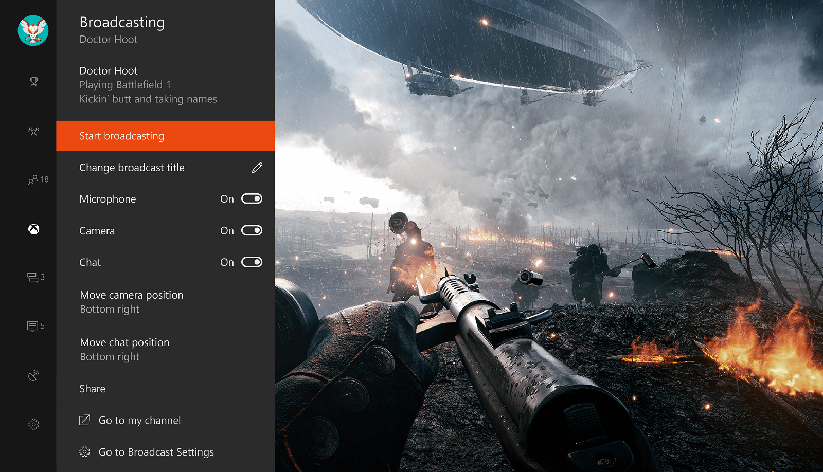 Microsoft is building all the tools you need to Beam right into the Xbox One app.