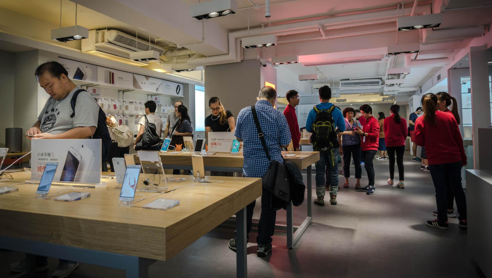 Inside Xiaomi's Mi Home retail store in Hong Kong.