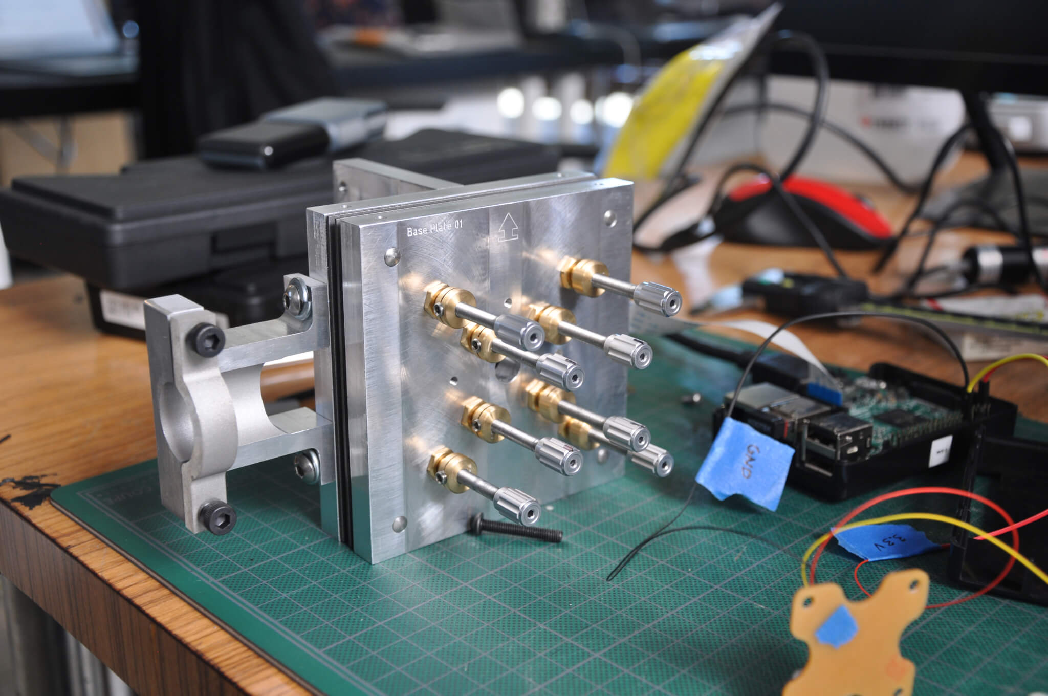 """The """"POE"""" prototype (Precision Optical Evaluation Assembly), which enabled the team to test the lens arrays"""