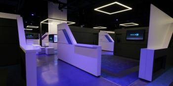 Inside an IMAX virtual reality arcade