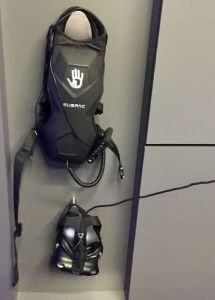 IMAX VR arcade visitors may don these backpacks.