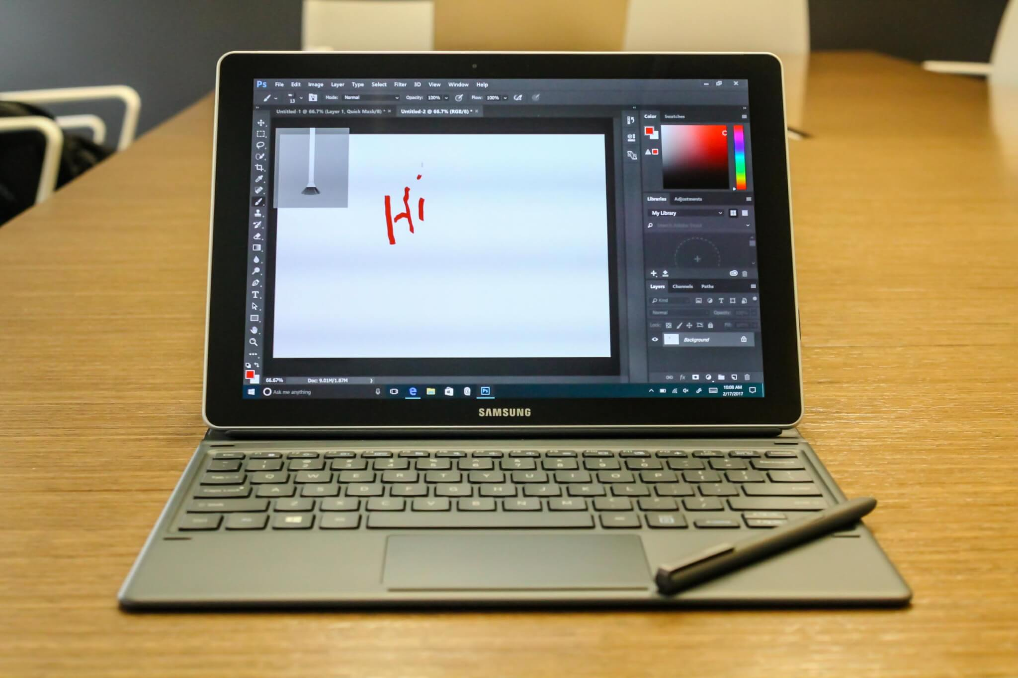 Samsung 10-inch Galaxy Book.