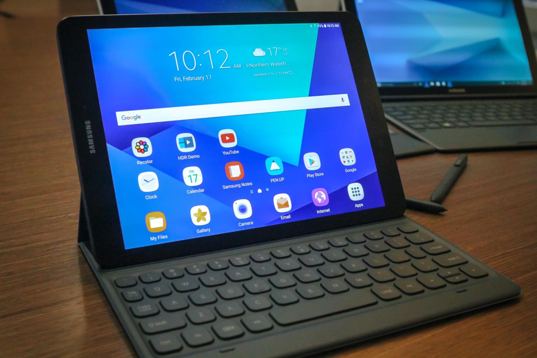 The Samsung Galaxy Tab S3.