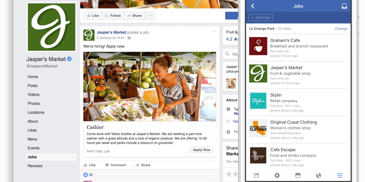 Facebook swipes at LinkedIn by letting brands post job ...
