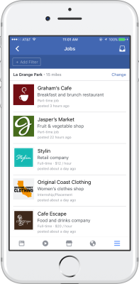 Facebook Pages Jobs Mobile Experience
