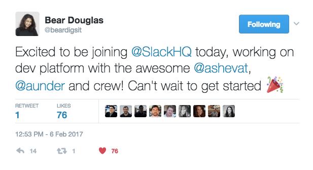 Bear Douglas joins Slack