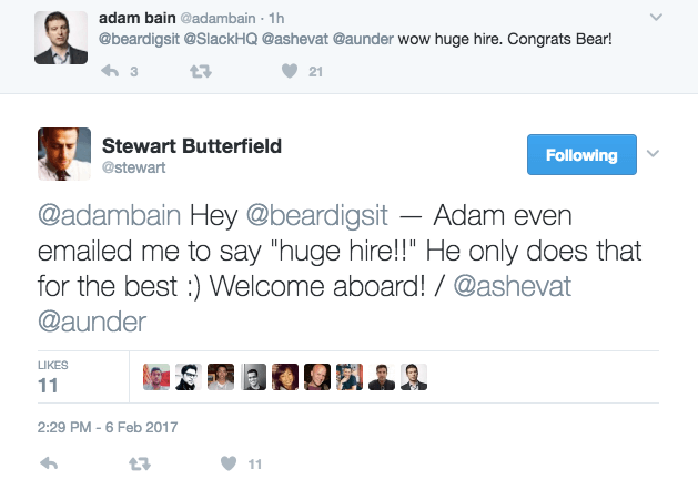 Stewart Butterfield responds to hiring Bear Douglas