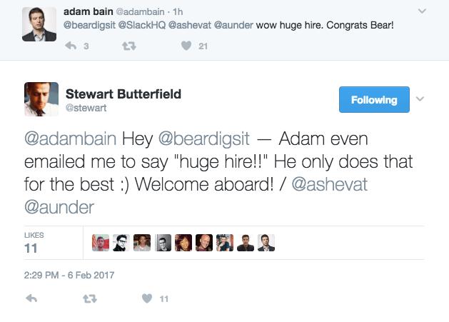 Stewart Butterfield responds to hiring Bear Douglas