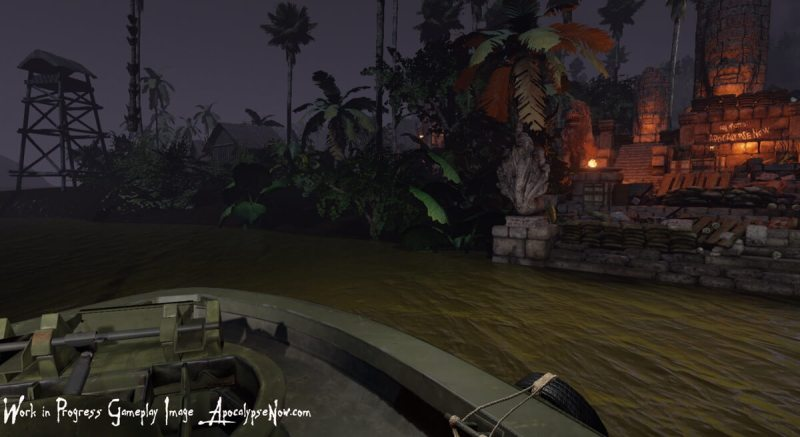 Don't get out of the boat in Apocalypse Now -- The Game.