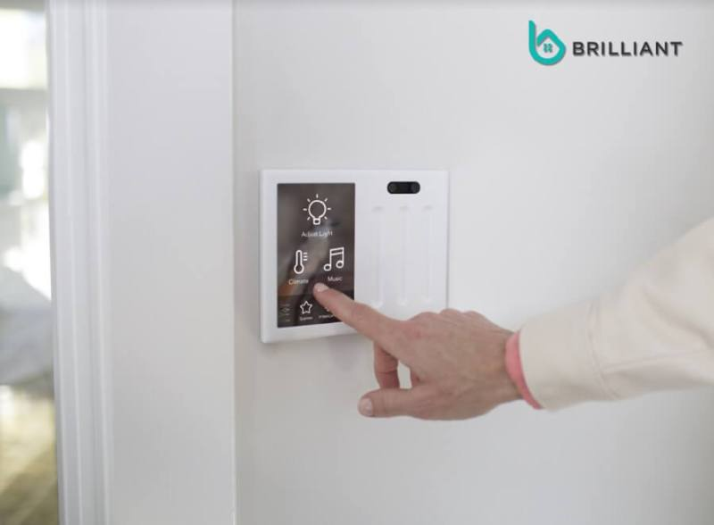 Brilliant Controls can replace light switches in your home.