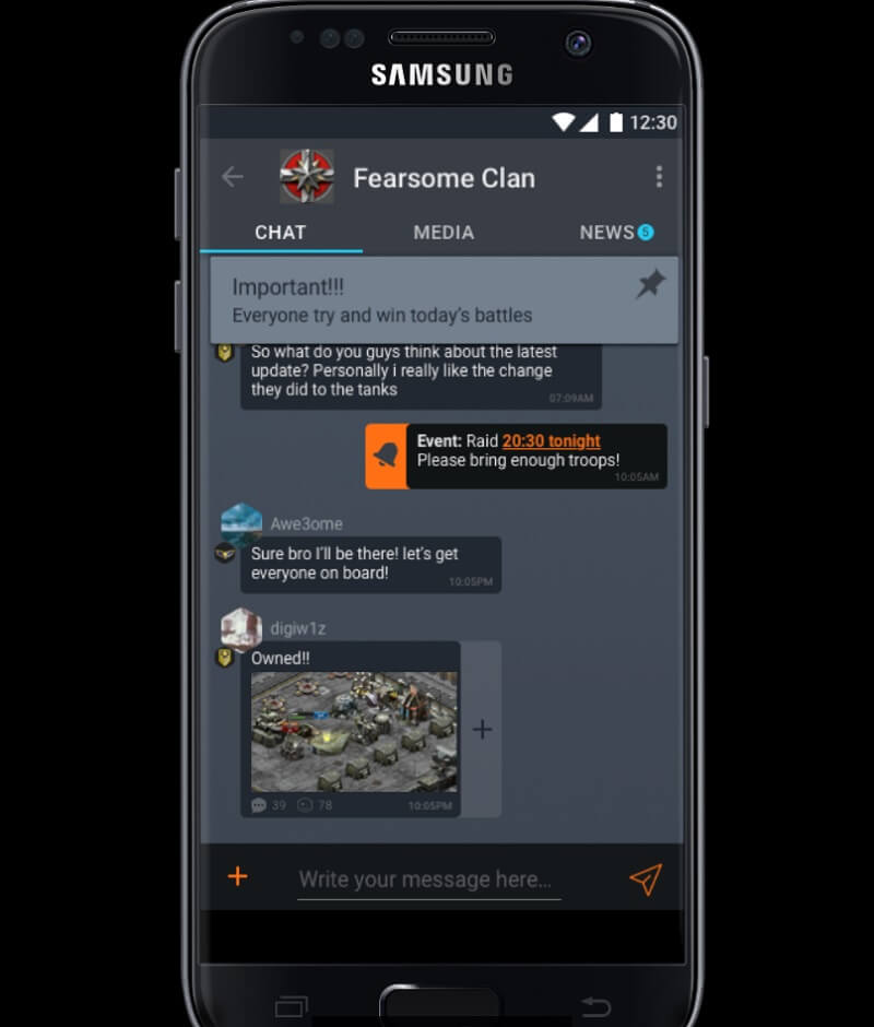 ClanPlay lets players talk one-on-one or in a big group.