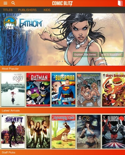 ComicBlitz has 4,500 comics.