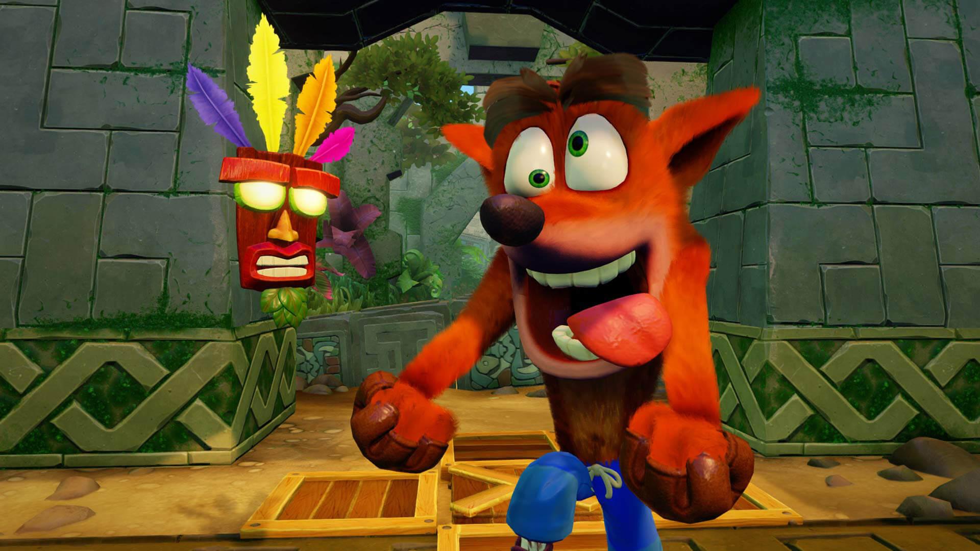 Crash Bandicoot is back.