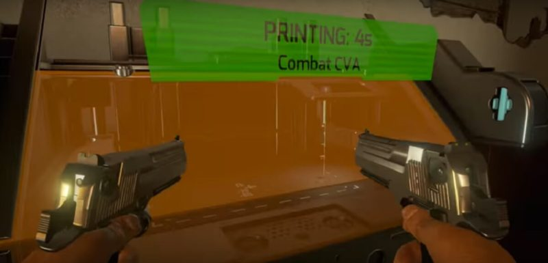 You can 3D print your own guns in Earthfall.