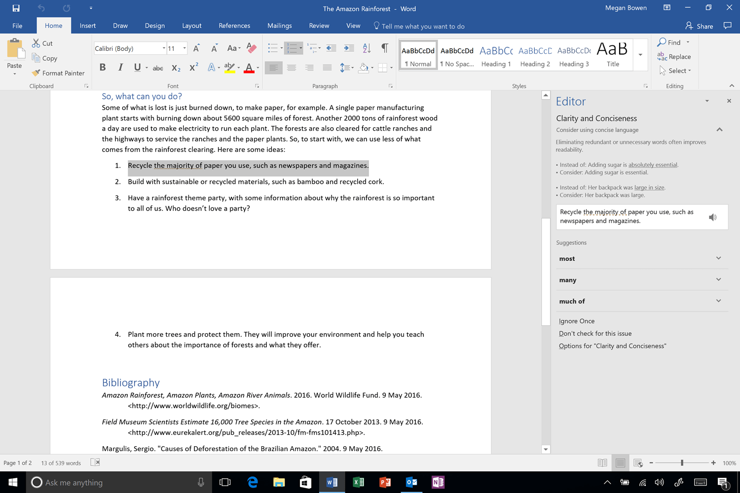 Word: Machine Learning In Microsoft Word's New Editor Gave Me
