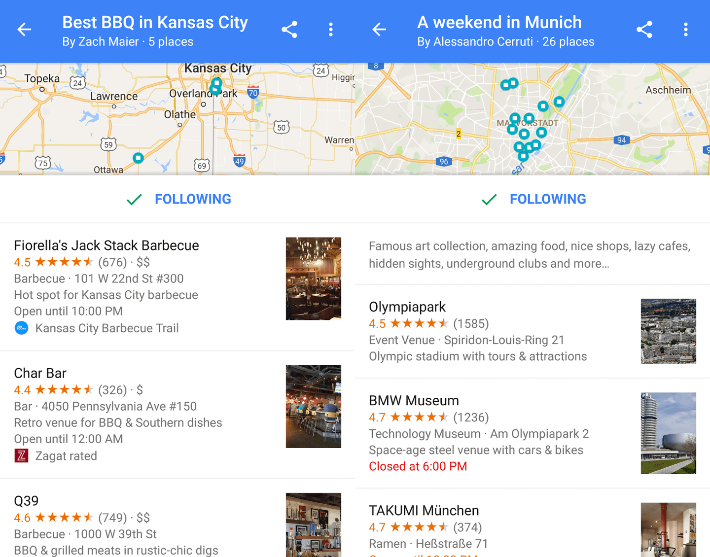 Google Maps now lets you create, share, and follow lists of places ...