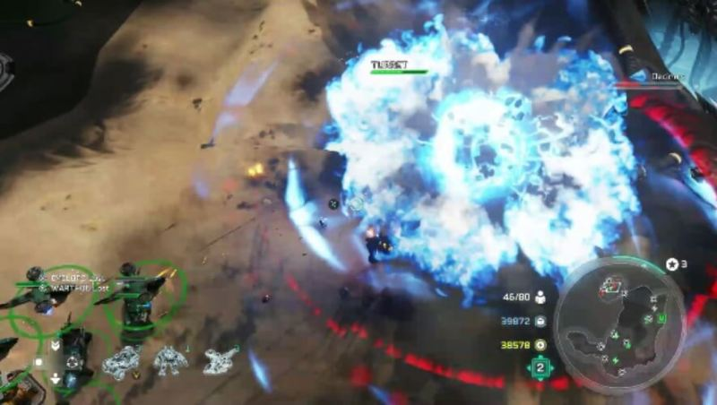 Decimus fights back in Lights Out in Halo Wars 2.