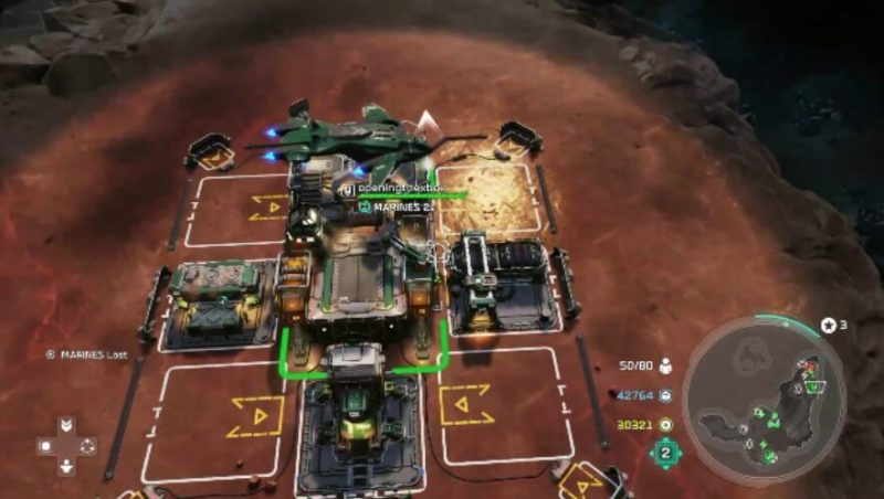 Building a base in Halo Wars 2.