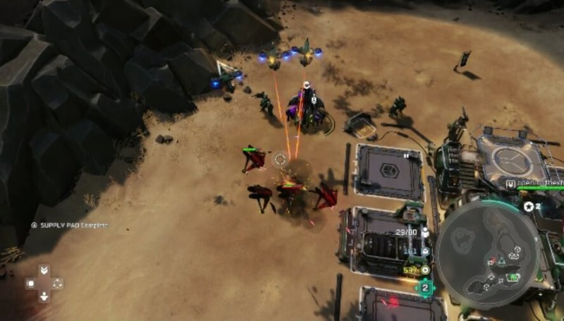 Defending the base in Halo Wars 2.
